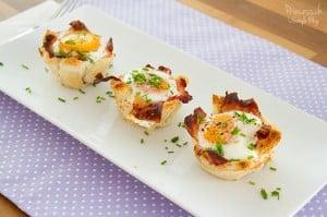 Frühstückmuffins mit Speck und Ei – einfach & lecker